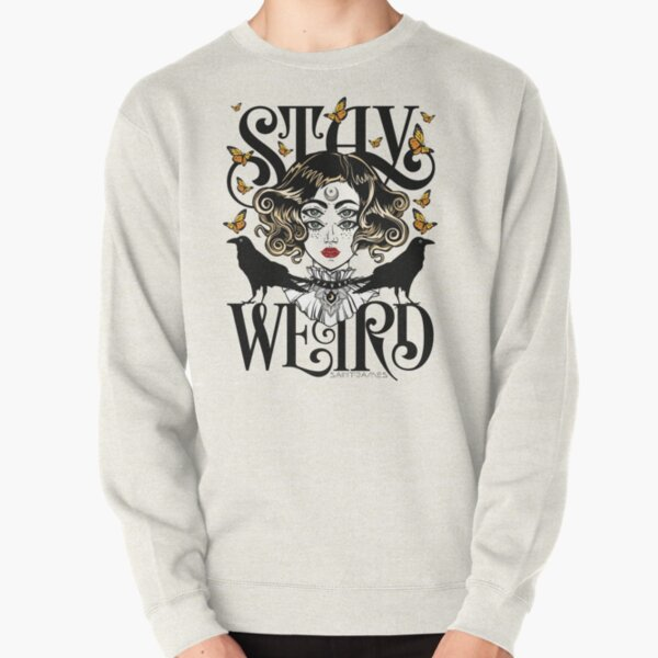 Rose and The Ravens {Stay Weird} Colour Version Pullover Sweatshirt