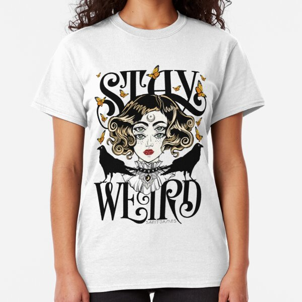 Rose and The Ravens {Stay Weird} Colour Version Classic T-Shirt