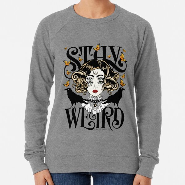 Rose and The Ravens {Stay Weird} Colour Version Lightweight Sweatshirt