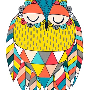 Aztec Owl Illustration by PipPipHooray