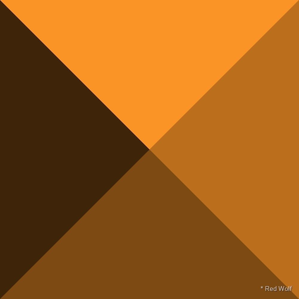 Geometric Pattern: Pyramid: Orange Dark by * Red Wolf