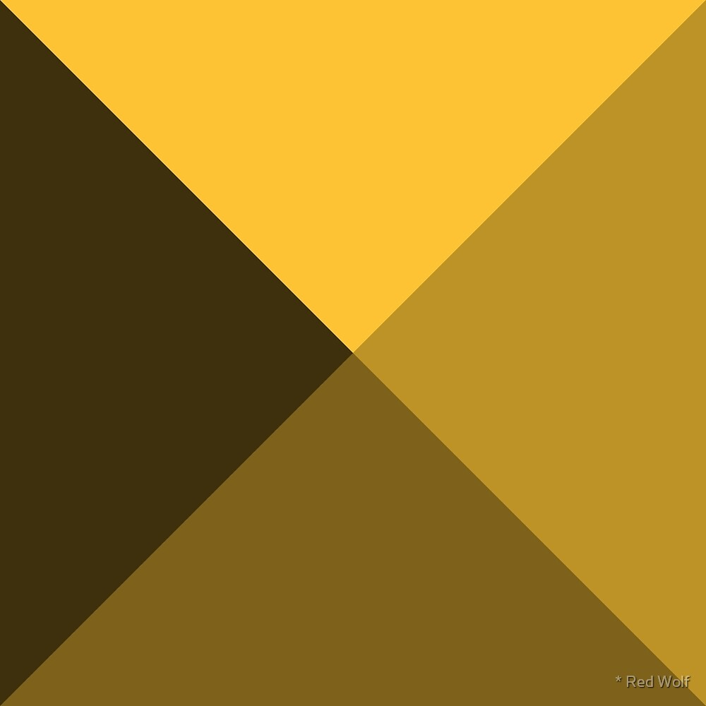 Geometric Pattern: Pyramid: Yellow Dark by * Red Wolf
