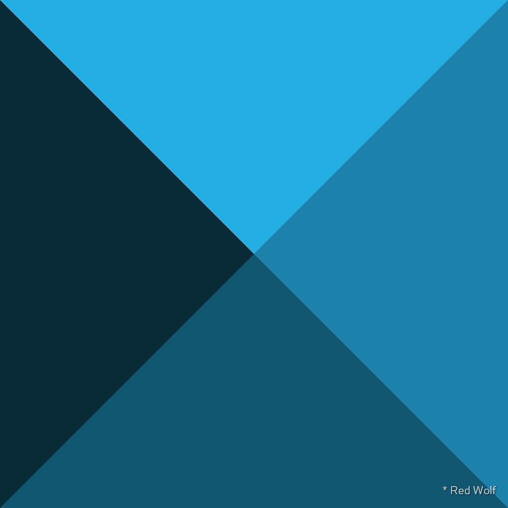 Geometric Pattern: Pyramid: Blue Dark by * Red Wolf