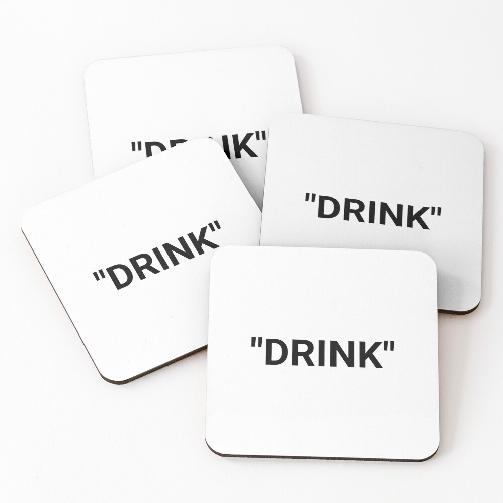 Drink Quotation Marks Coasters (Set of 4)