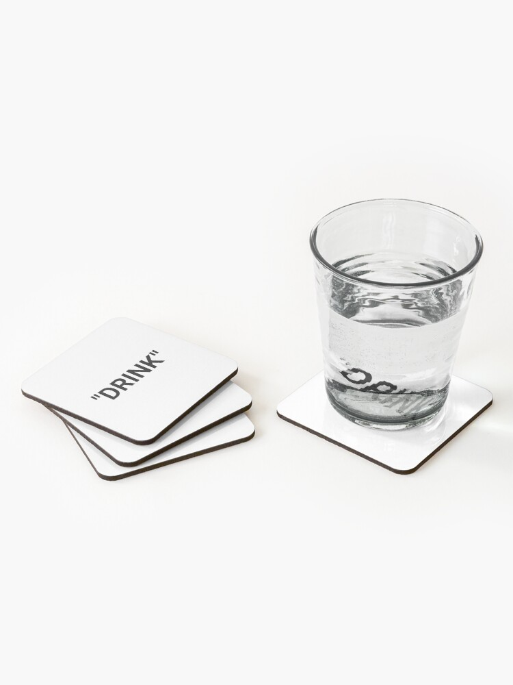 Alternate view of Drink Quotation Marks Coasters (Set of 4)