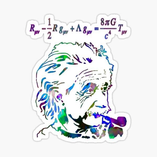 Einstein's theory of relativity Sticker