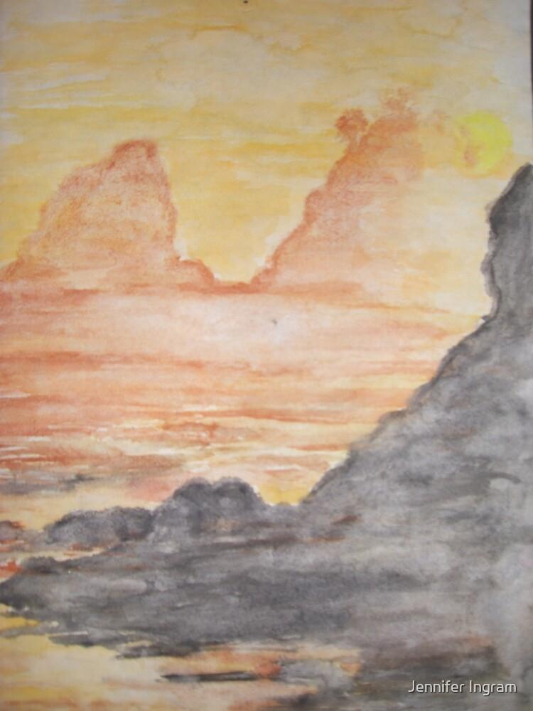 Rocky surf at Dawn by Jennifer Ingram