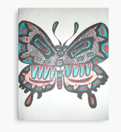 Northwest Native Influence on Butterfly Canvas Print