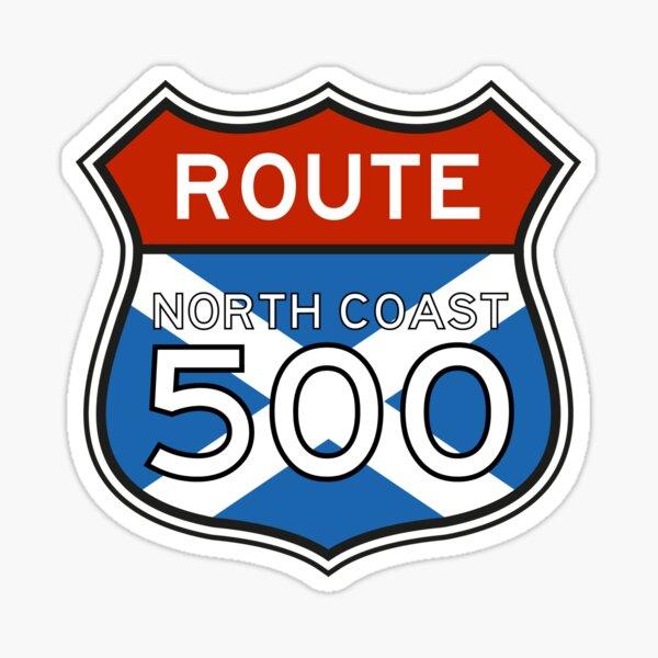 The North Coast 500 NC500 Scotland Route Sign Sticker