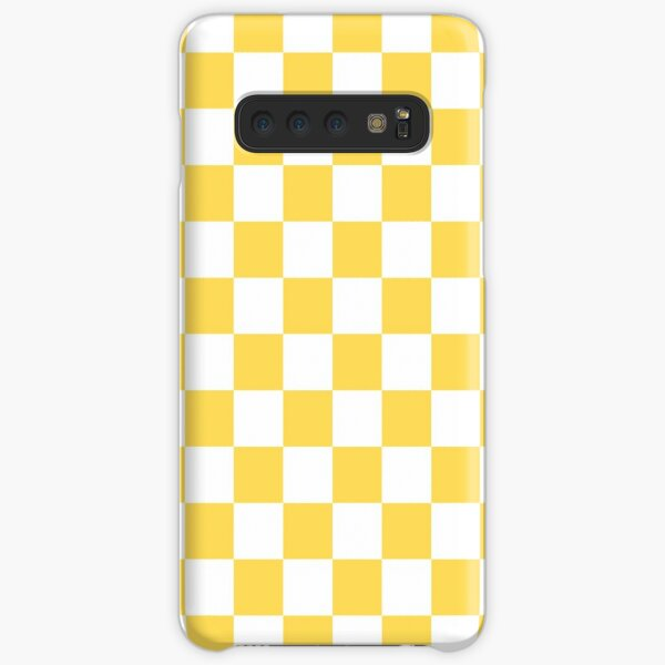 Mustard Yellow And White Checkerboard Pattern Samsung Galaxy Snap Case