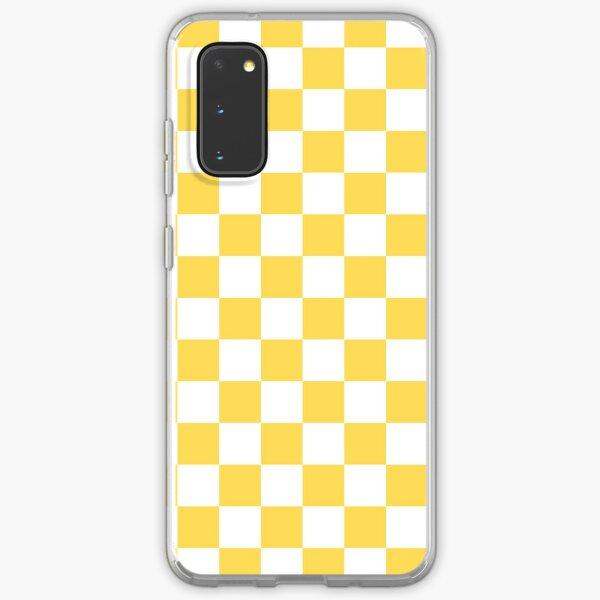 Mustard Yellow And White Checkerboard Pattern Samsung Galaxy Soft Case