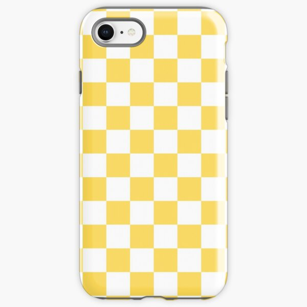 Mustard Yellow And White Checkerboard Pattern iPhone Tough Case