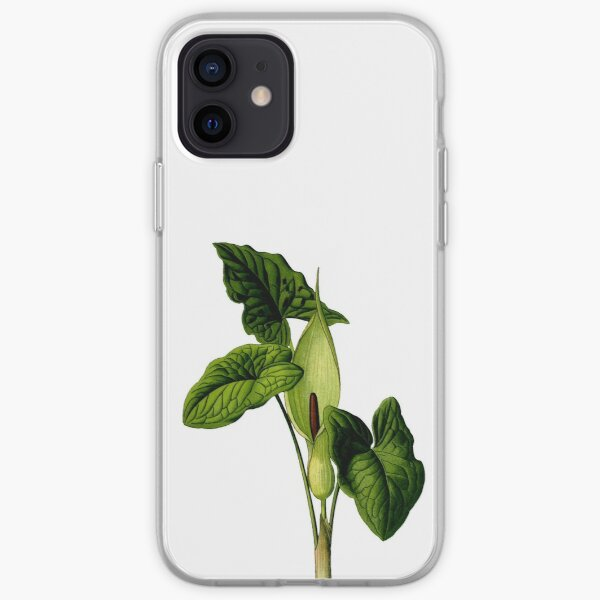 Flower and leaves of Arum maculatum iPhone Soft Case