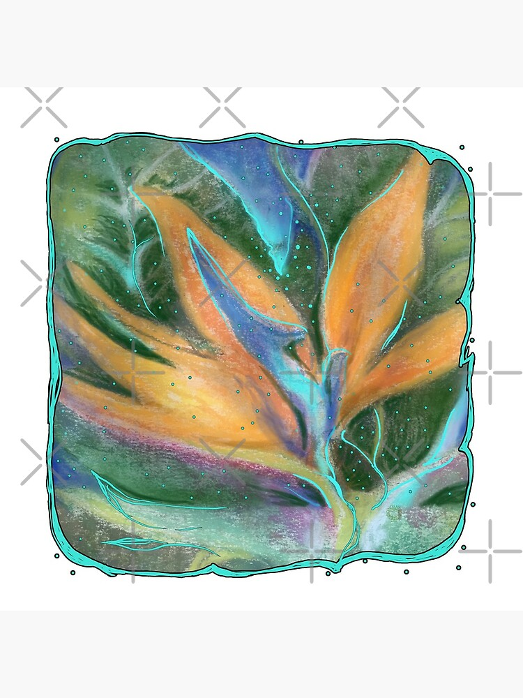 Tropical Flower Pastel and Digital Art by AncientForest