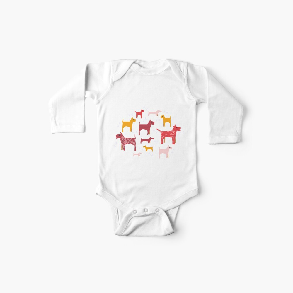 Dogs Funny Baby One-Piece