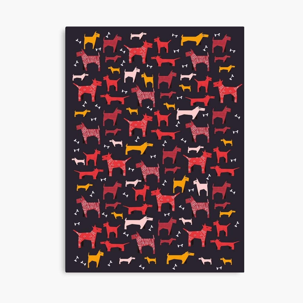Dogs Funny Canvas Print