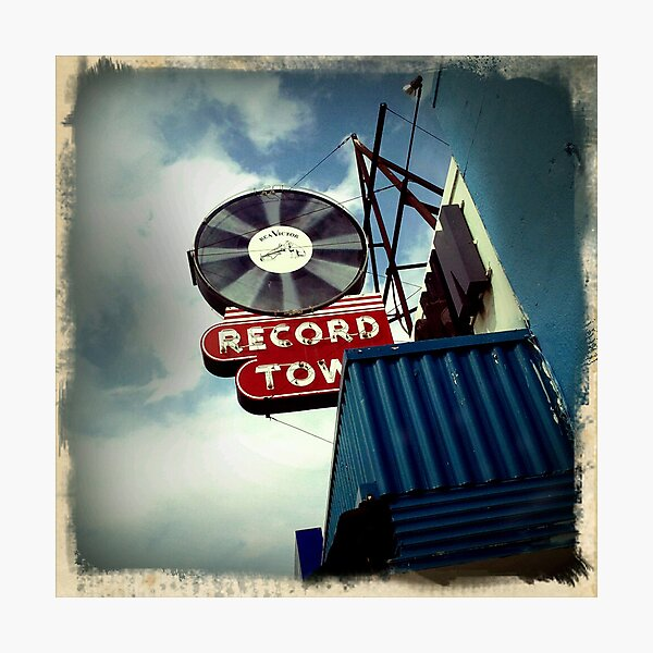 Record Town Photographic Print