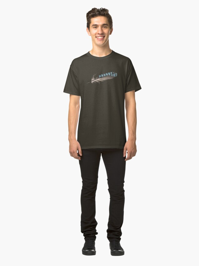 Alternate view of Garrulus Jay Feather Illustration Classic T-Shirt