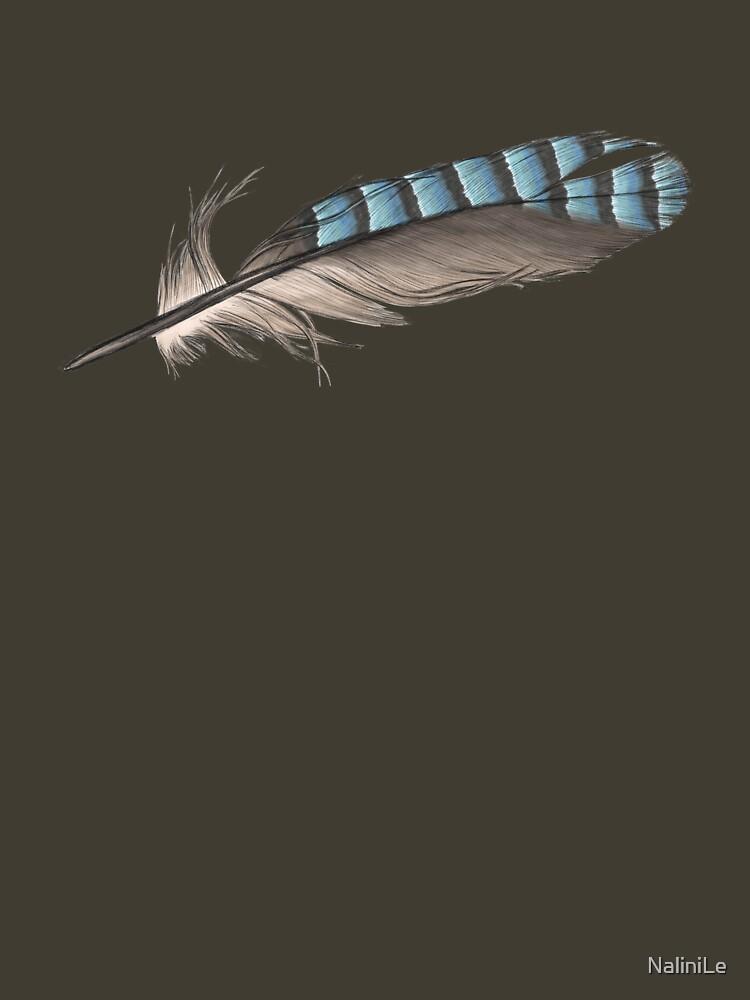 Garrulus Jay Feather Illustration by NaliniLe