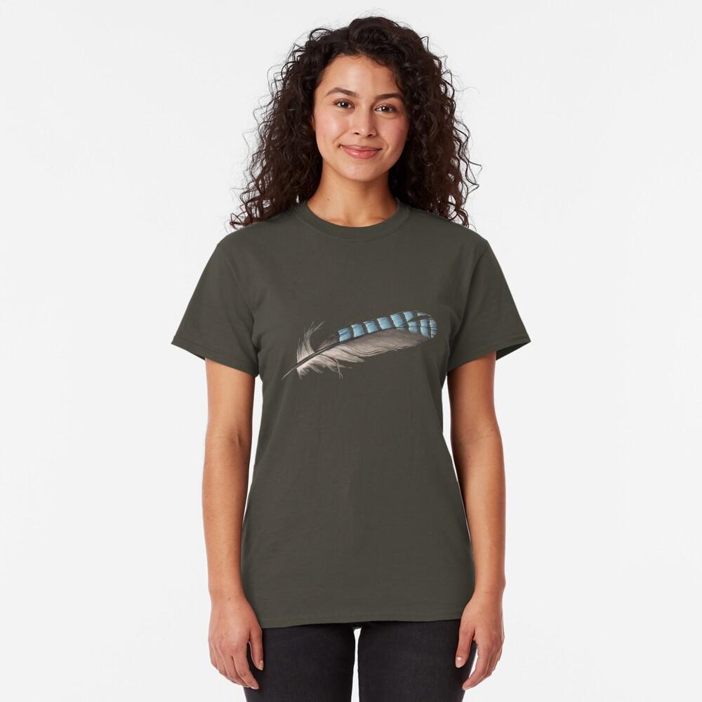 Garrulus Jay Feather Illustration Classic T-Shirt