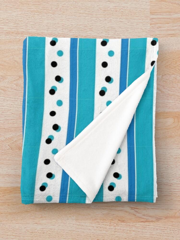Alternate view of Out Damn Spot! Blue/Cyan Throw Blanket