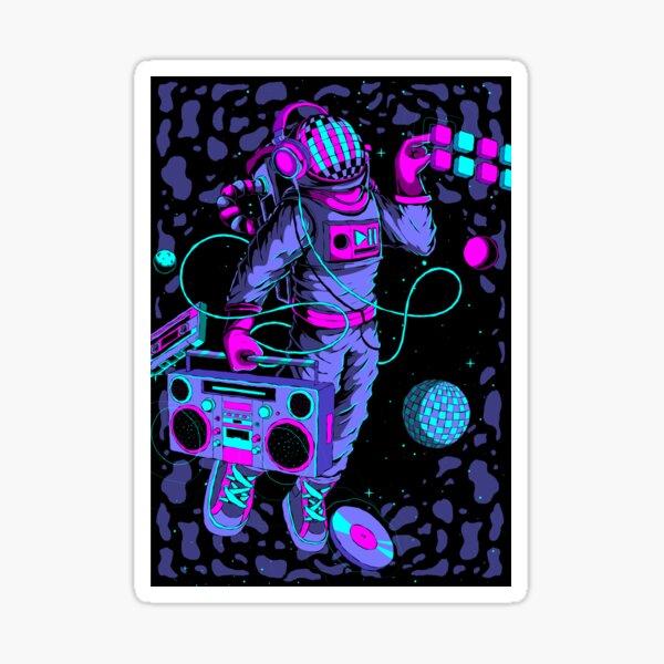 Music Astronaut Sticker