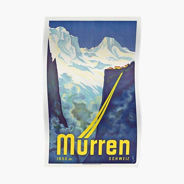 Murren - Vintage Swiss Travel Poster Poster