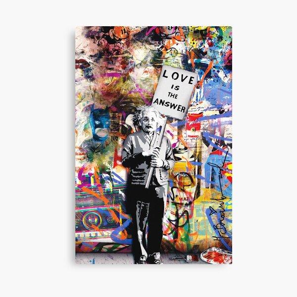 Banksy - Einstein Love Is The Answer Canvas Print