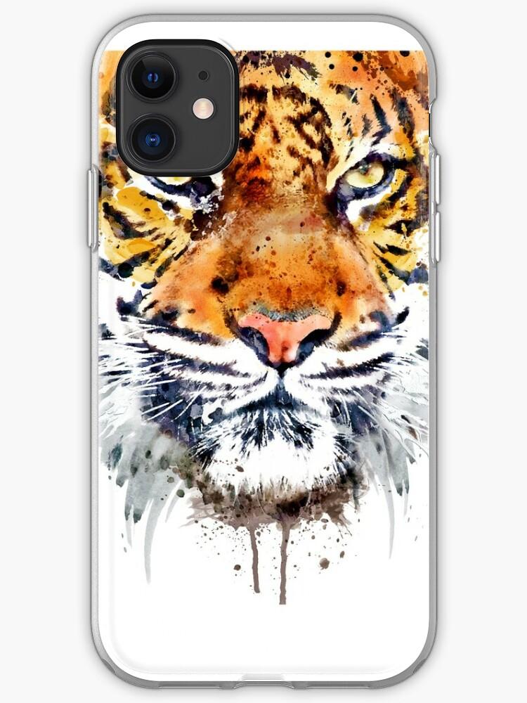 Close-up de visage de tigre | Coque iPhone