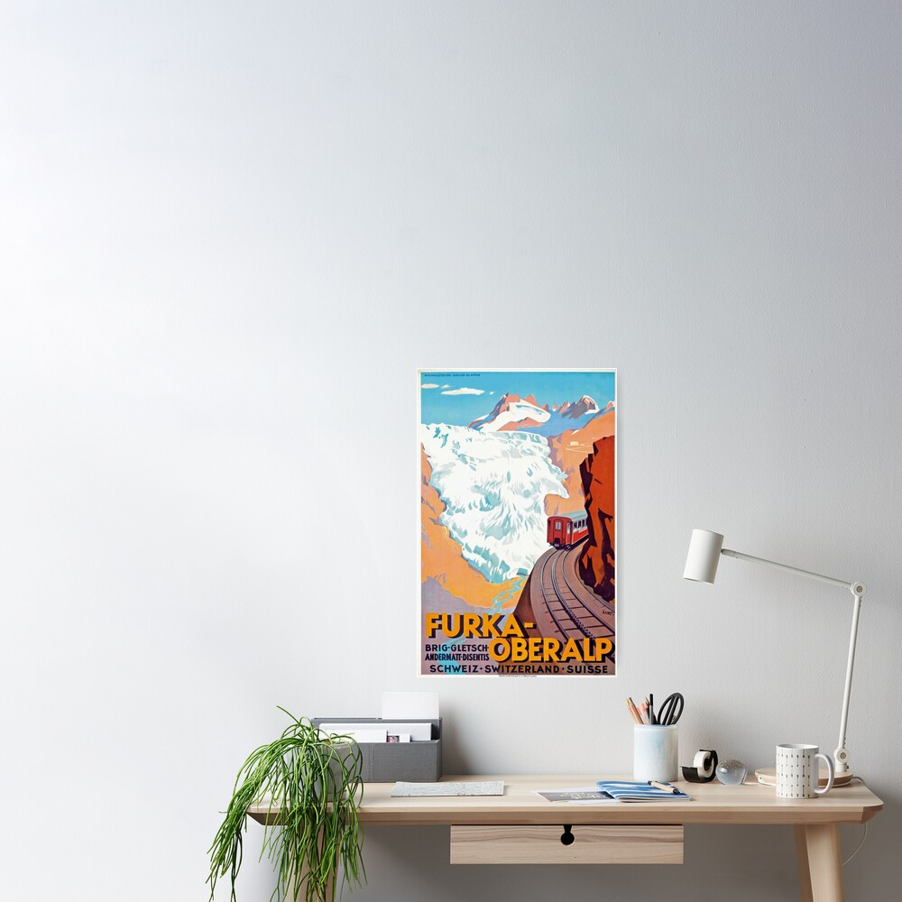 Furka Oberalp Railway - Vintage Swiss Travel Poster Poster
