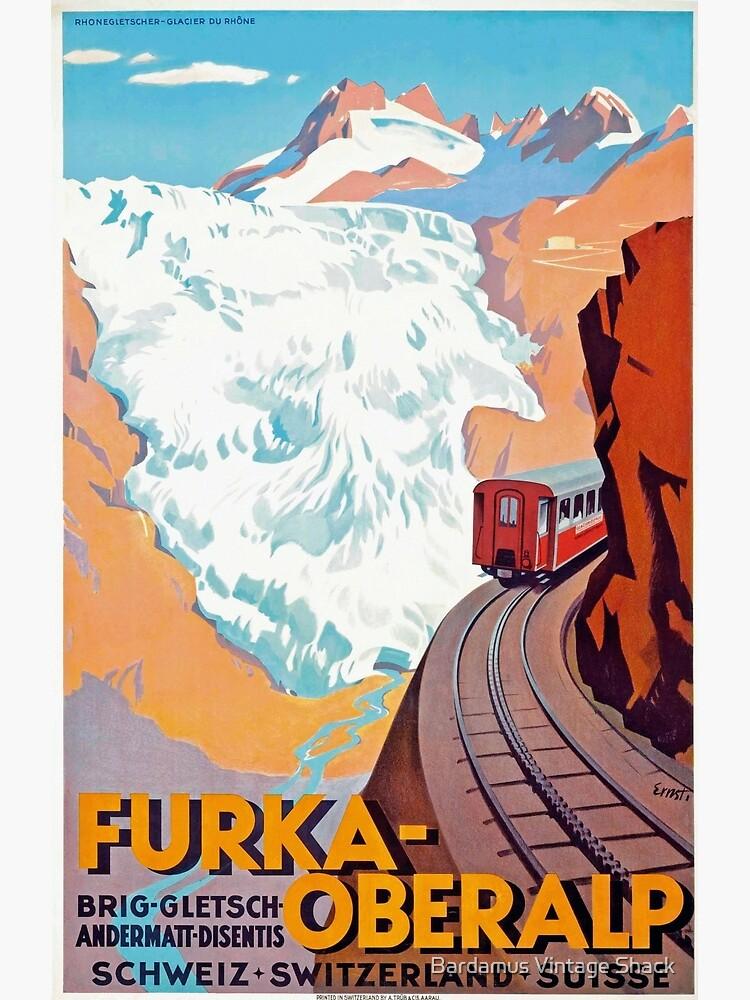 Furka Oberalp Railway - Vintage Swiss Travel Poster by SamKovac
