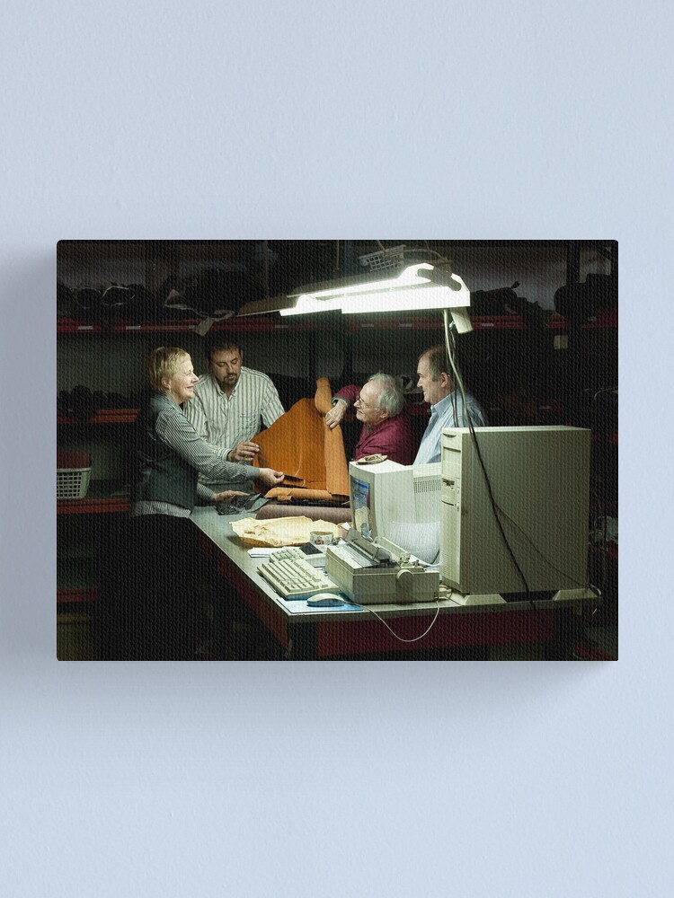 Alternate view of Family Leather Canvas Print