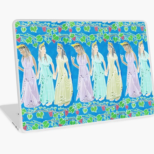 Women Of Ancient Greece Dancing Holding Hands Laptop Skin