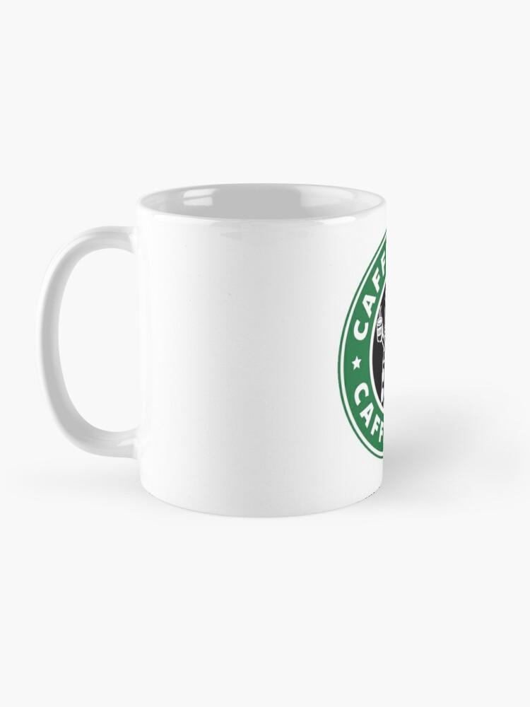 Alternate view of Caffeinate! Exterminate! Mug