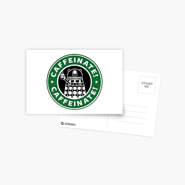 Caffeinate! Vernichten! Postkarte