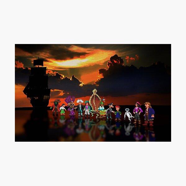 Secret of Monkey Island pixel art Photographic Print