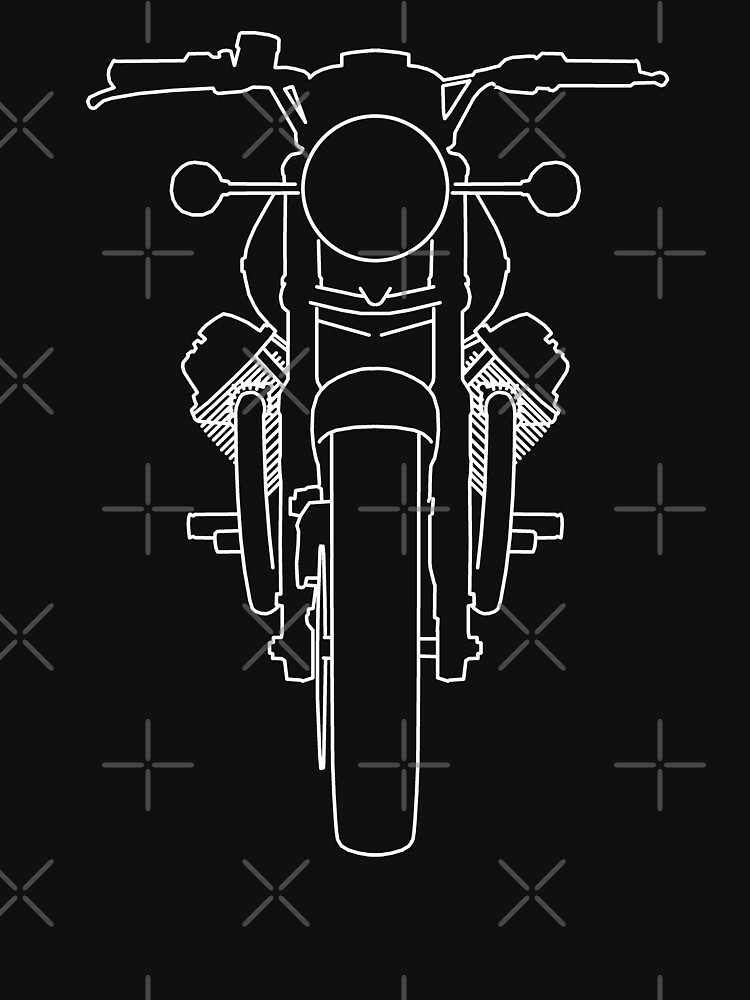 1970s Moto Guzzi 850-T outline graphic (white) by soitwouldseem