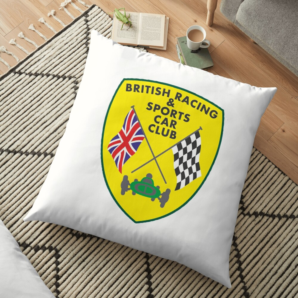 British Racing & Sports Car Club Floor Pillow