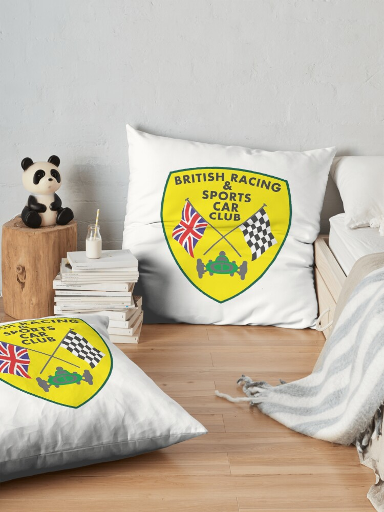 Alternate view of British Racing & Sports Car Club Floor Pillow