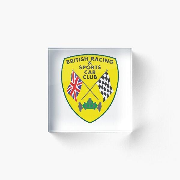 British Racing & Sports Car Club Acrylic Block