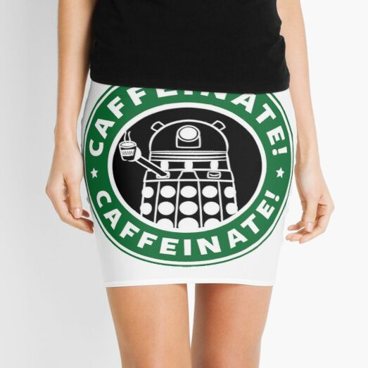Caffeinate! Exterminate! Mini Skirt