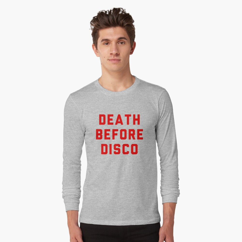 Stripes Death Before Disco Judge Reinhold Long Sleeve T-Shirt