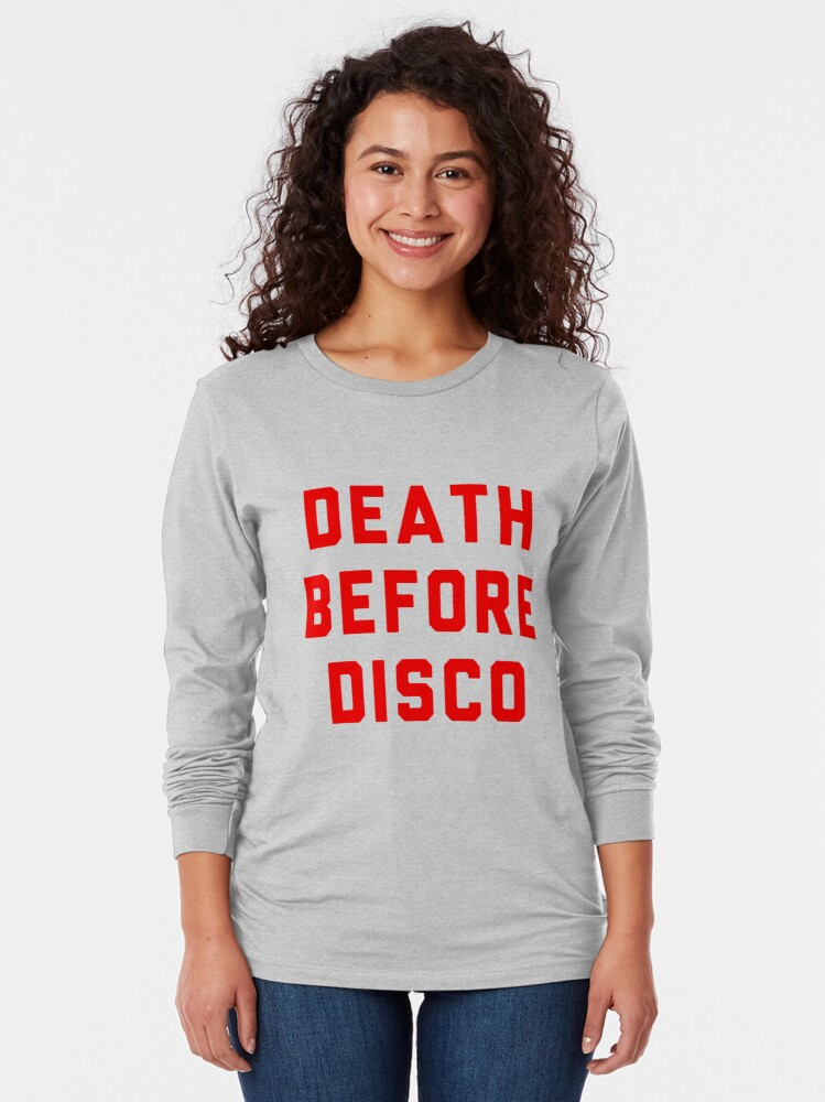 Alternate view of Stripes Death Before Disco Judge Reinhold Long Sleeve T-Shirt