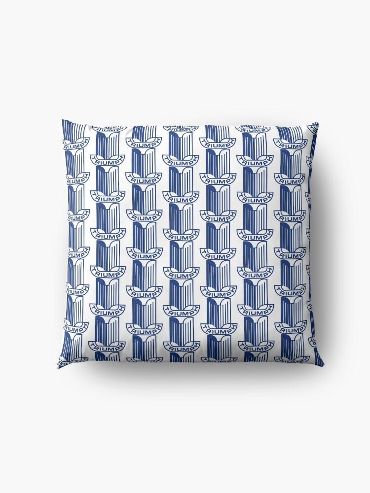 Alternate view of Blue Triumph Logo Floor Pillow