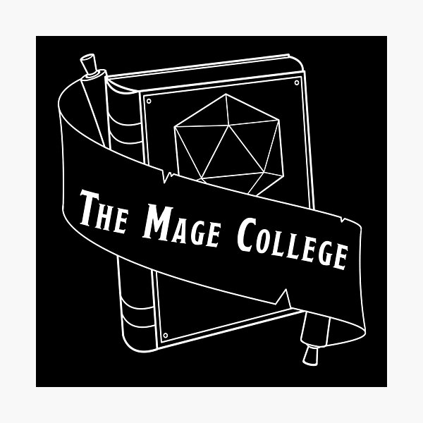 The Mage College logo White Photographic Print
