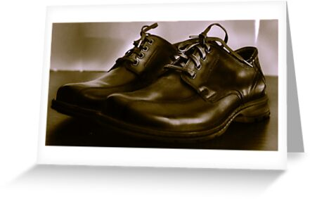 Two Shoes on a Table by Jay Reed