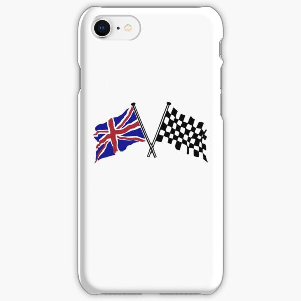 Crossed flags - Racing and Great Britain iPhone Snap Case