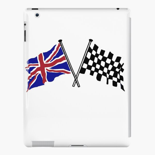 Crossed flags - Racing and Great Britain iPad Snap Case