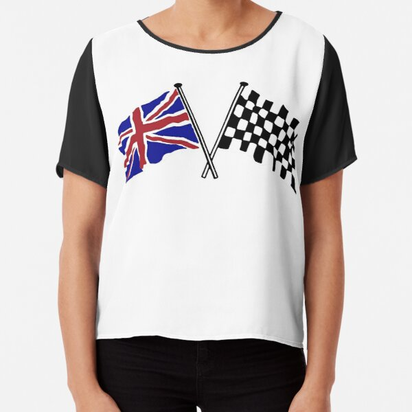 Crossed flags - Racing and Great Britain Chiffon Top
