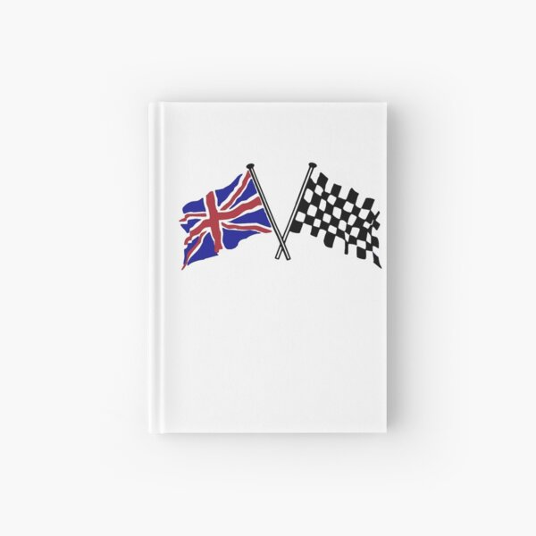 Crossed flags - Racing and Great Britain Hardcover Journal
